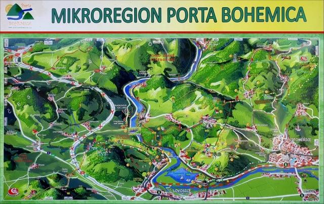 mapa porta bohemica